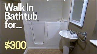 DIY $10,000 Walk In Bathtub for $300? Install it Yourself