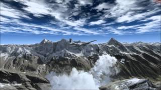 Flying in the Alps!   FSX extreme Aerosoft Switzerland terrain