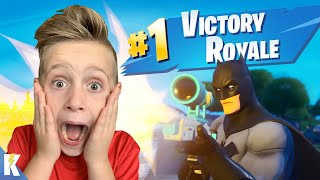 FIRST #1 Victory Royale in FORTNITE (Getting better!!!) | K-CITY GAMING