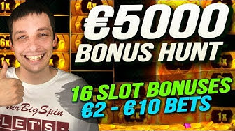 BONUS HUNT RESULTS €5000, 16 Casino Slot Bonuses