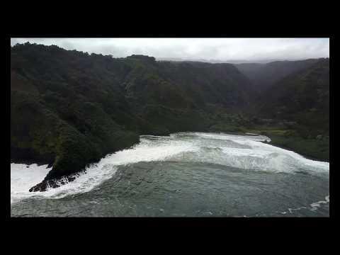 Maui Hawaii Hana Rd Mavic pro flight 4k