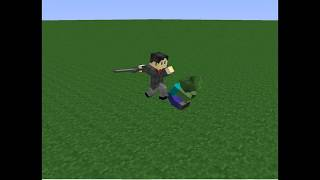 zombie villager vs politican minecraft fight animation