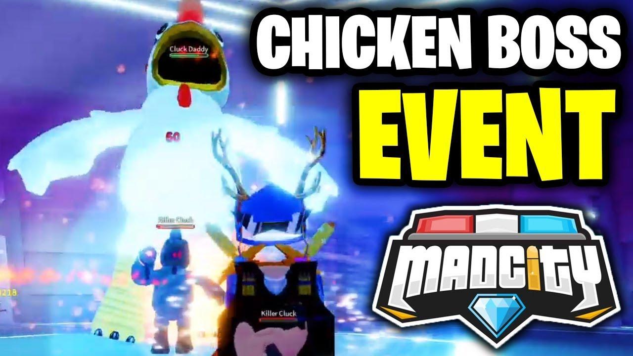 Mad City Alien Invasion Chicken Boss Fight Roblox Mad City