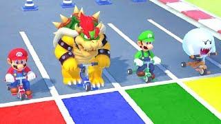 Super Mario Party MiniGames - Mario vs Luigi vs Boo vs Bowser