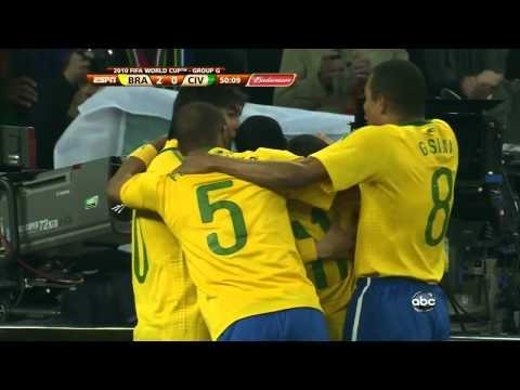 Brazil vs. Ivory Coast - Luis Fabiano 2-0