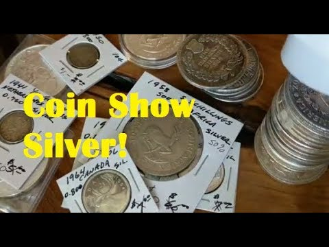 Coin Show Silver Pickups - World Silver Coins, Vintage Silver, Trading with Bullion Dealers