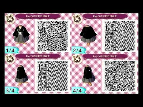 Animal Crossing New Leaf Qr Codes Kimono Edition Youtube