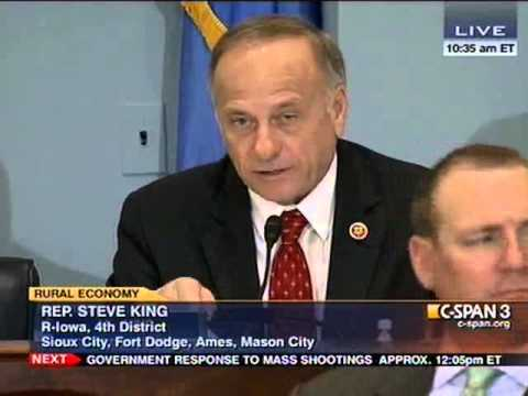 Congressman Steve King questions Secretary of Agriculture Tom Vilsack