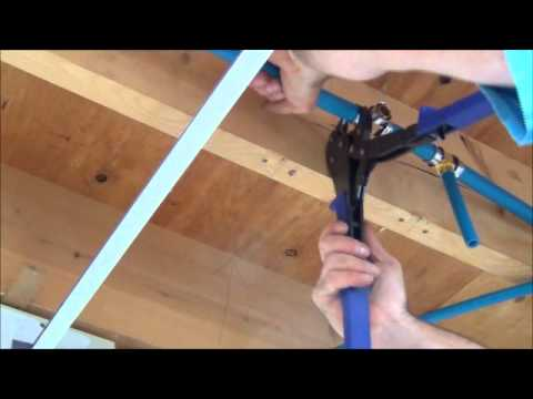 how to install pex pipe waterlines in your home part 2 plumbing tips youtube. Black Bedroom Furniture Sets. Home Design Ideas