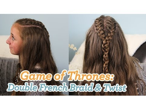 Double French Braid And Twist Game Of Thrones Cute Girls