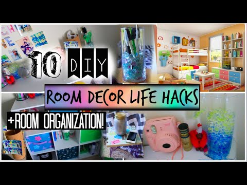 10 diy room organization and storage ideas room decor for Room decor hacks