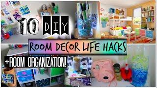 10 Diy Room Organization And Storage Ideas! + Room Decor Life Hacks!