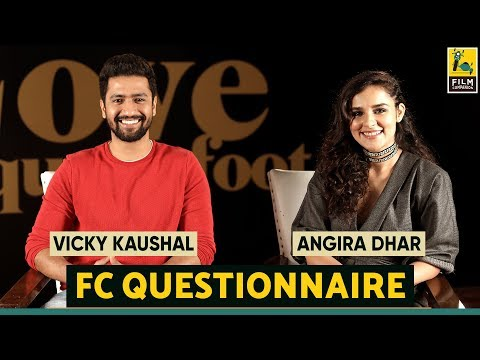 Vicky Kaushal and Angira Dhar I Film Companion Questionnaire | Love Per Square foot | Netflix