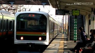 JR八高線 209系3100番台 ハエ71編成 金子駅