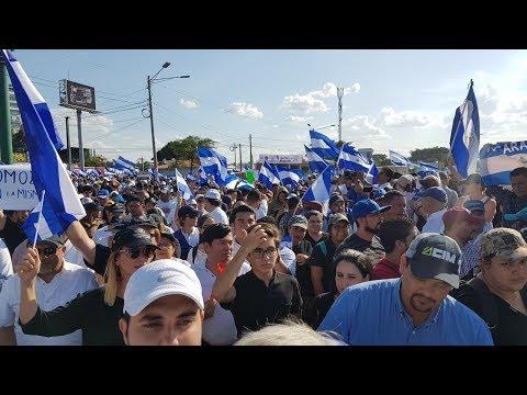 Así se vivió la Marcha por la Paz en Nicaragua
