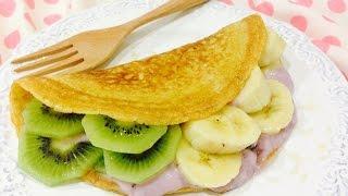 Healthy Fruit & Yogurt Crepes เครปผลไม้ไร้แป้ง