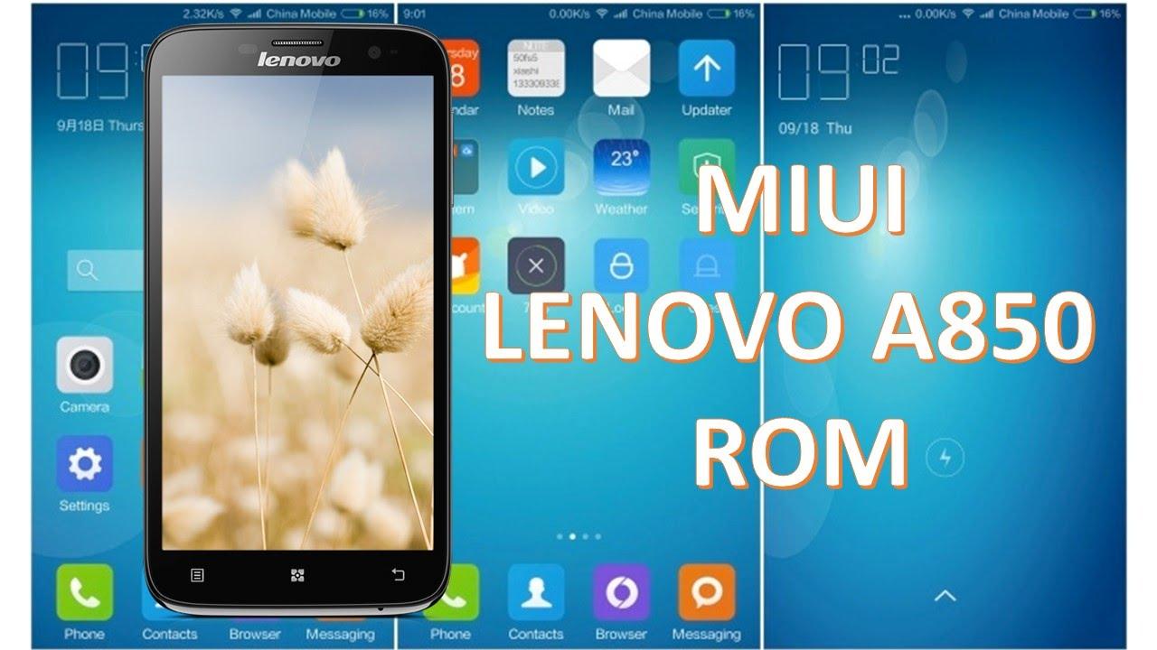 Instalar MIUI Rom Lenovo A850
