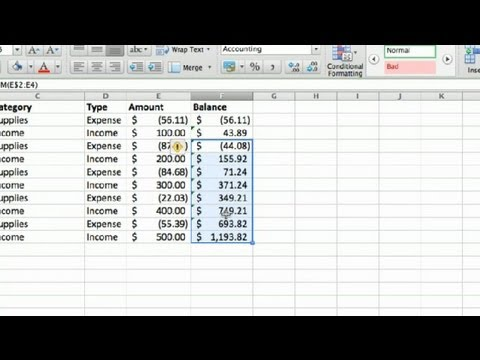 How To Make A Business Account Ledger In Excel : Advanced