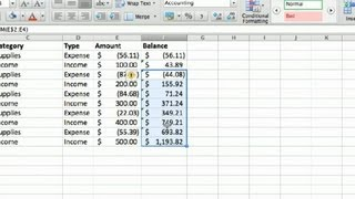 How to Make a Business Account Ledger in Excel : Advanced Microsoft Excel
