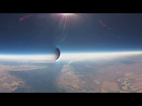 Total Solar Eclipse VR from near space, High Resolution Video/Audio