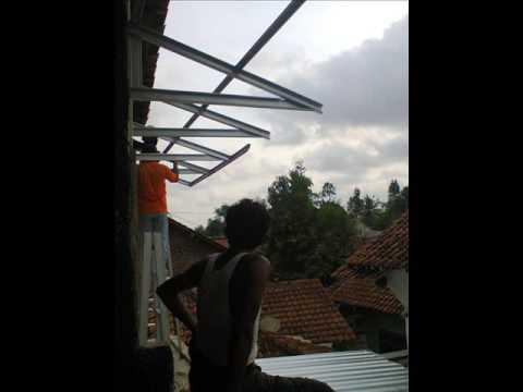 rangka kanopi jendela baja ringan 081 376 986 067 net minimalis purwokerto 02 youtube