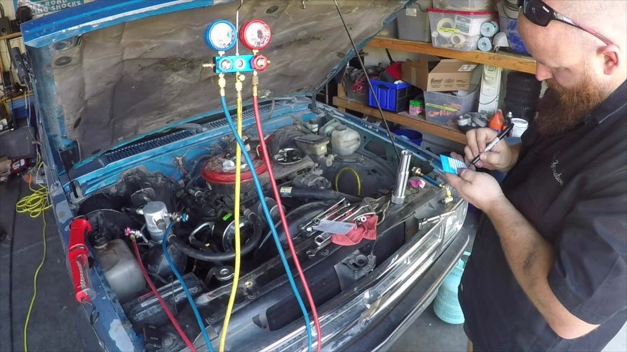 A/C repair including R12 to R134A conversion, Leak detection tips, AC gauge  & pag oil injection use