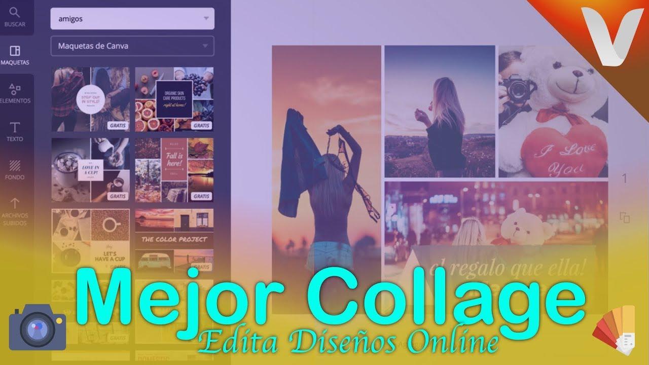 5 Pasos: Crear un Collage online con Canva (Gratis 2019 ...