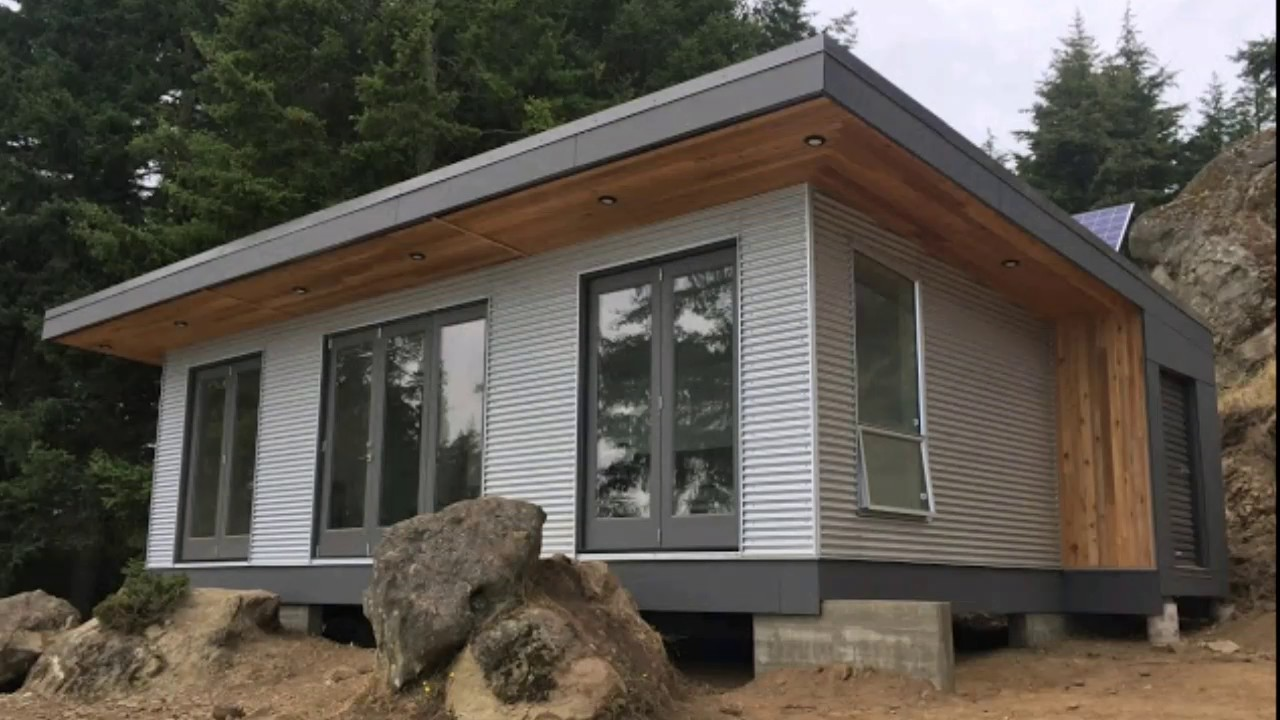 Incredible Desolation Sound Modular Off-Grid Cabin|Tiny Home Design Ideas