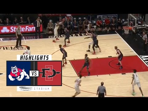 Fresno State vs. San Diego State Basketball Highlights (2018-19) | Stadium