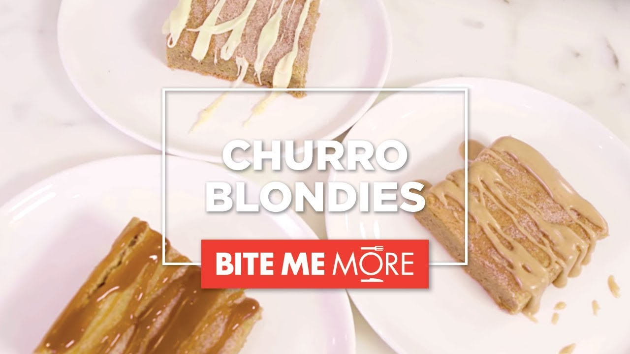 EASY DESSERT RECIPE - Churro Blondies - YouTube