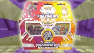 Lycanroc and Alolan Raichu Trainer Kit Learn To Play Theme Deck Opening!