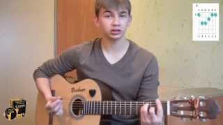 """Как играть на гитаре - """"Целуйте бабы рельсы"""" (разбор, видео урок)"""