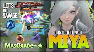 SAVAGE!! Aggresive Miya Non Stop Ganking! MᴀsQяᴀᴅe~★ Australia No 1 Miya ~ Mobile Legends