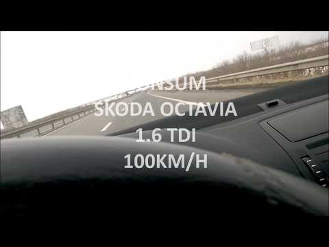 SKODA OCTAVIA 1.6 TDI 105 CP CONSUM/TURATII  LA 100 KM/H