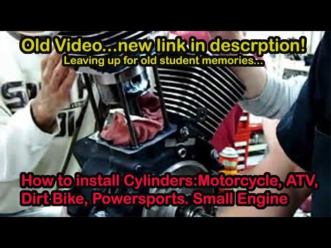 Part 03.1 How to install piston cylinder trick method on a Harley v-twin S&S Revtech EVO