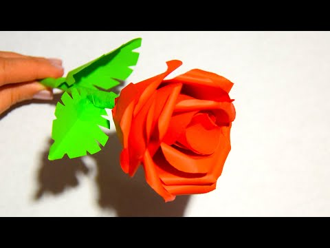 How to make a Rose ❀ Flower of Paper ❀ Tutorial (Gift for Mom)