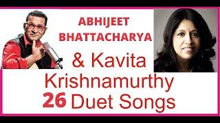 Abhijeet Bhattacharya And Kavita Krishnamurthy Duet Songs