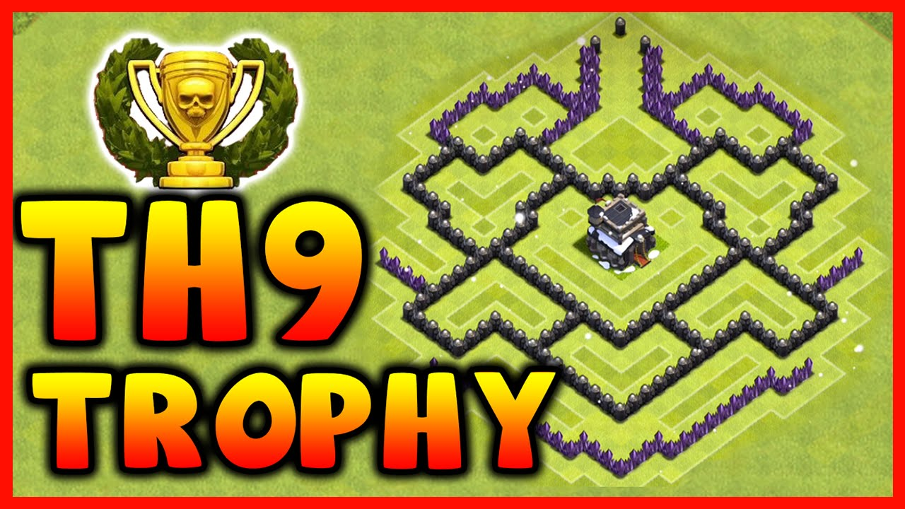 Clash of Clans - DEFENSE STRATEGY - Townhall Level 9 ...