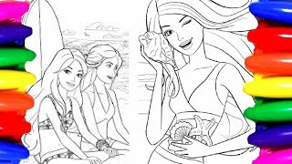 Coloring Pages BARBIE Princess Chelsea Coloring Book Children Videos for kids Learning Colors