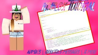 ROBLOX Tutorial: BAE 2 0 - Admins + Server Messages