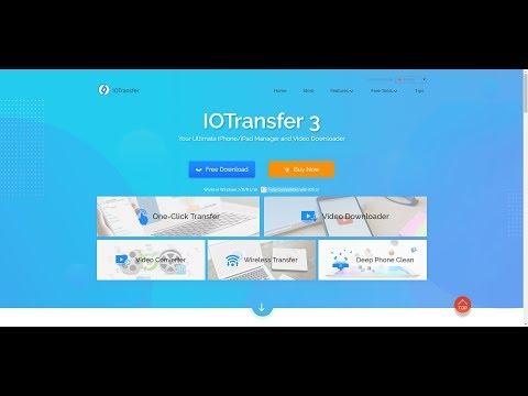 IOTransfer 3 iPhone/iPad Yönetici ve Sosyal Medya İndirme Aracı