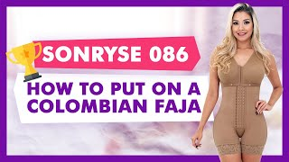How to put on SONRYSE 086 Colombian Body Shaper