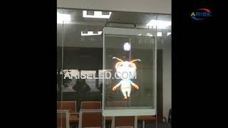 70 Inch Transparent LED Display Screen Led Poster Full Color Window Display,Wifi App Control Retail