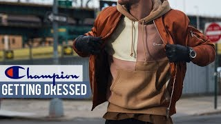 How I Styled this Champion Hoodie | Streetwear Outfit | Getting Dressed Step by Step #22