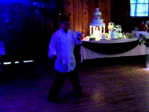 Isaiah Castaneda dancing at Craig n Becky's weddin...