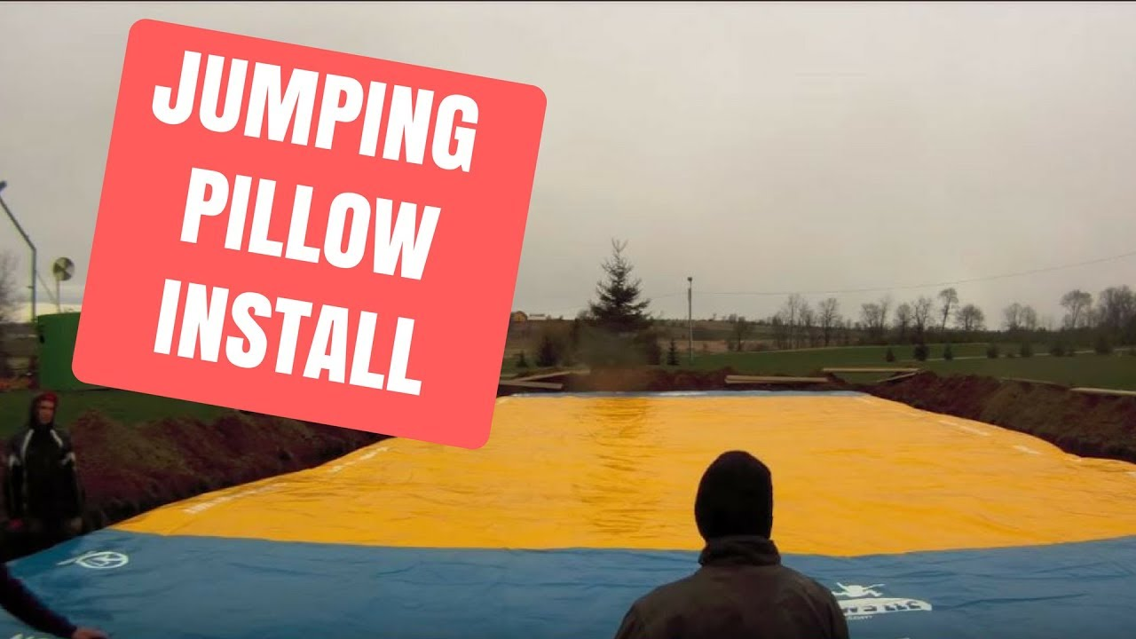 jumping pillow being installed