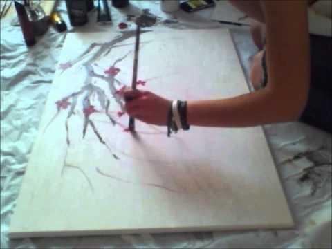 Peinture Cerisier Partie 1 Youtube
