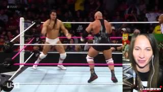 WWE Raw 10/27/14 Ryback Returns vs Bo Dallas Live Commentary