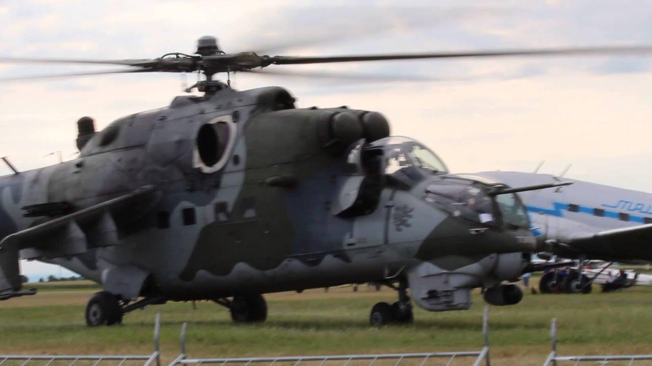 dee836d45 Air Show Roudnice nad Labem 2013 - Vzlet vojenského vrtulníku MI 24 ...