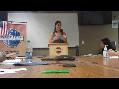 Fair Weather Toastmaster Sami Nall Evaluation of Tracy Hinojosa
